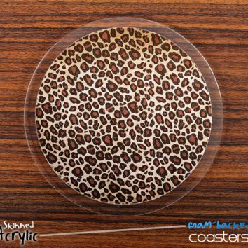 The Animal Print V5 Skinned Foam-Backed Coaster Set