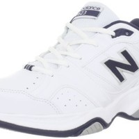 New Balance Men's MX623 Cross-Training Shoe,White/Navy,10.5 D US