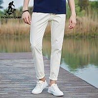 Casual Pants Men Cotton Pants For Men New Fashion Men Pants Slim Fit White Elastic male Trousers
