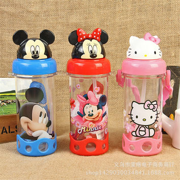 Cute Eco-friendly PP Kid Bickiepegs baby cups baby cartoon water bottle children Straw Bottle Children kettle sports bottle