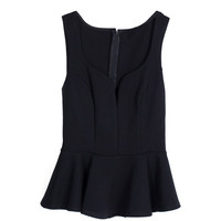 Curved Down Peplum Tank | 2020AVE