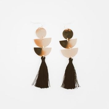 Crescent Tassel Earrings