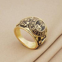 House Of Cards Ring 100% Real Solid 925 Sterling Silver Frank's Ring Replica Of The Citadel Graduation Rings For Men