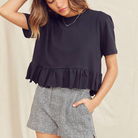 Urban Renewal Recycled Peplum Tee | Urban Outfitters
