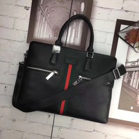 GUCCI MEN'S LEATHER BRIEFCASE BAG CROSS BODY BAG