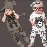 New summer cotton children's clothing boys short sleeve baby girl clothes newborn clothes suit baby clothes for boy