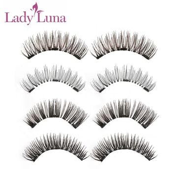 1 Set Full Coverage 3D Triple Mink Magnetic False Eyelashes Glue-Free magnet Eye Lashes Extension Makeup Tools wimpers