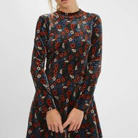 PETITE Ditsy Velvet Dress - Dresses - Clothing