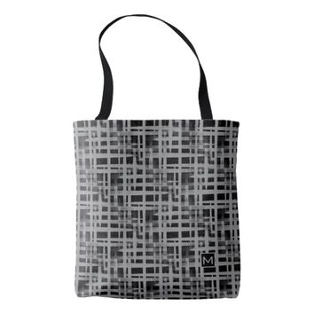 Monogram Retro Abstract Weave GS Tote Bag