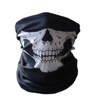 Cool Tubular Skull Ghosts Ghost Mask Bandana Motor bike Sport Scarf Warmer Winter Halloween For Motorcycle