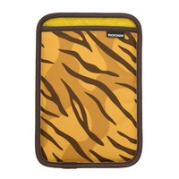 Orange Brown Tiger Skin Pattern iPad Mini Sleeve