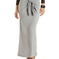 Layered & Knotted Maxi Skirt by Charlotte Russe