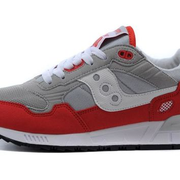 Saucony Shadow 5000 Retro Sneakers - Light Grey/Red