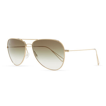 Isabel Marant par Oliver Peoples Matt 60 Aviator Sunglasses, Light Gold/Olive