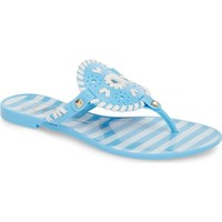 JACK ROGERS 'Georgica' Jelly Flip Flop French Blue/White $39