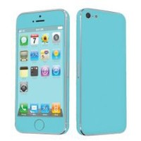 SkinGuardz Vinyl Decal Protective Sticker Skin for Apple iPhone 5 - (Turquoise)