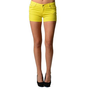 Sexsy Fashion Skinny Fit Juniors Hot Colored Shorts