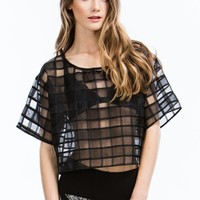 Be Square Sheer Boxy Organza Top