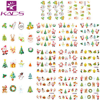 HOTSALE 11Sheet 1 SET Christmas nail sticker DECAL nail art tool for water sticker for water decals nail art stickers