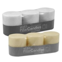 Unscented Pillar Candle (Set of 3)