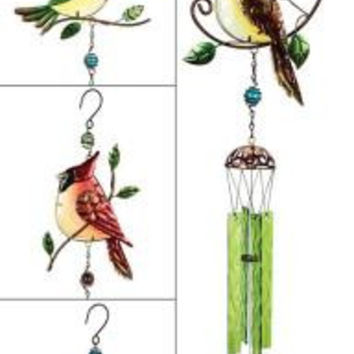 4 Wind Chimes - Colorful Birds
