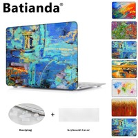 Air 11 13 12 inch Crystal Hard Laptop Case For Apple Macbook Pro 13.3 15.4  inch Touch Bar Oil Painting Covers A1502 A1706 A1707