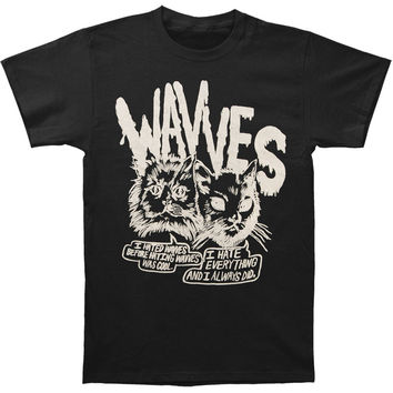 Wavves Men's  Cynical Cats Slim Fit T-shirt Black