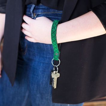 The Evergreen Leather Key Fob