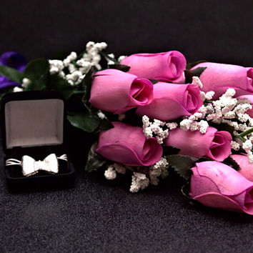 Lavender Wax Dipped Roses Bouquet