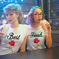 Best Friends shirts, flower best friends tees, bffs shirts, bff t-shirts, back 2 school outfits, sister shirts, girlfriends shirts
