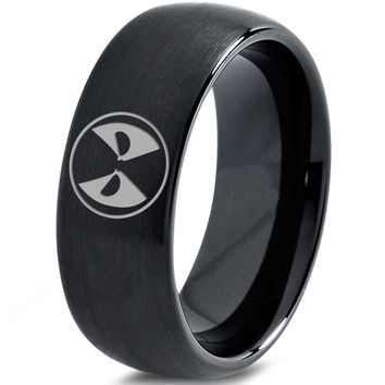 Copy of Deadpool Inspired Black Tungsten Ring-1