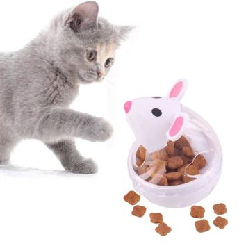 LanLan Mouse Tumbler Pet Cat Food Dispensing Food Treat Feeder Ball Interactive Toy Chew Ball for Dog Puppy