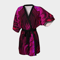 Design: Freaky Fractal - Kimono Robe, Robe, Bath Robe, Lounge Wear, Coverup, Swim Coverup, Gift Idea