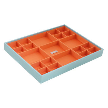 WOLF Women's Stackables Large Standard Aqua Jewelry Tray