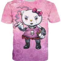 Hello Goth Kitty T-Shirt