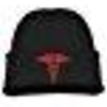 Kids Hats Hedging Caduceus Staff Of Hermes Winter Warm Classic Knitted Cap Soft Beanies For Toddlers Boys Girls