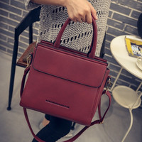 Women Handbag Bag Wine Red Brief Messenger Bag