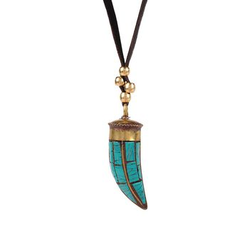 By Aqua Luna By Aqua Long Horn Necklace