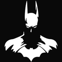"Batman Vinyl Die Cut Decal Sticker 6"" White"