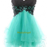 Sweetheart Tulle Lace Ball Gown Fantastic Mini Prom Dresses