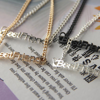 FRee Shipping Best Friend Necklace--n154