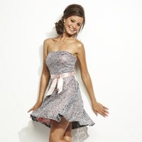 Lily Rose Lace Sequin Strapless Dress