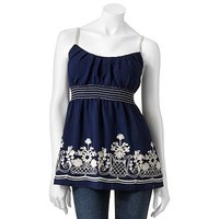 HeartSoul Floral Embroidered Camisole - Juniors