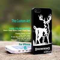 Browning Deer Hunting, For iPhone 5 Black Case Cover