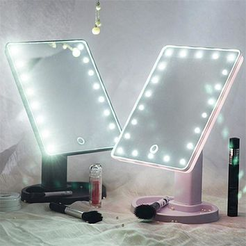 DCCKOV5 Touch Screen LED Light Vanity Mirror (360 Degree Rotation)