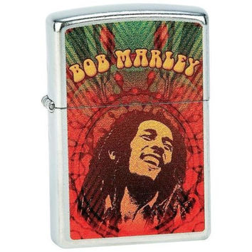 unique BOB MARLEY RASTA Reggae ZIPPO Lighter Vibrant colors Great Gift