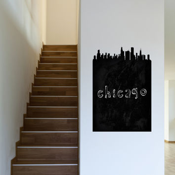 Chicago Chalkboard Skyline wall decal