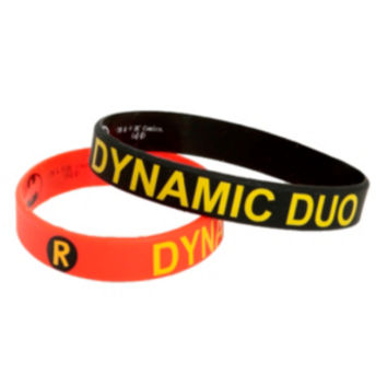 DC Comics Batman & Robin Dynamic Duo Rubber Bracelet 2 Pack