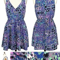 Monet Drawstring Print Dress