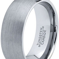 8mm Tungsten Rings Wedding Engagement Promise Band